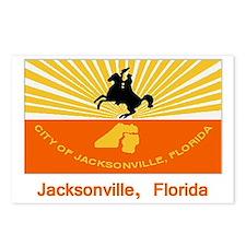 Jacksonville FL Flag Postcards (Package of 8)