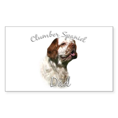 Clumber Dad2 Rectangle Sticker