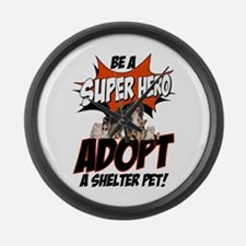 Super Hero Shelter Large Wall Clock