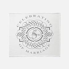 5th Wedding Anniversary Throw Blanket