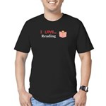 I Love Reading Men's Fitted T-Shirt (dark)