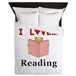 I Love Reading Queen Duvet