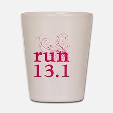 run13_pink_sticker.png Shot Glass