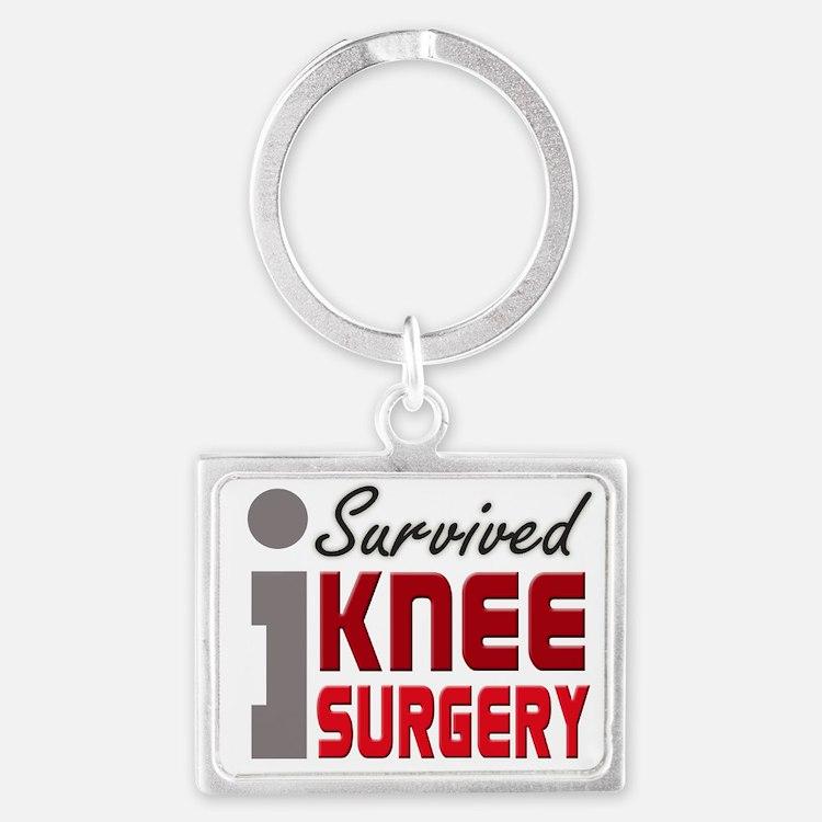 Cute Knee surgery Landscape Keychain