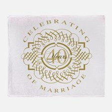 40th Wedding Anniversary Throw Blanket