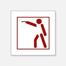 "Pictogram Square Sticker 3"" x 3"""