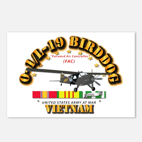 L19 Bird Dog w VN Svc Rib Postcards (Package of 8)