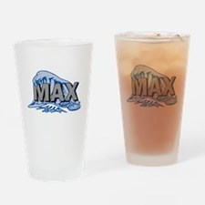 Max Wave Logo Drinking Glass