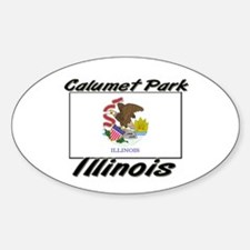 Calumet Park Illinois Oval Decal