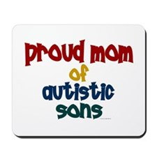 Proud Mom Of Autistic Sons 2 Mousepad