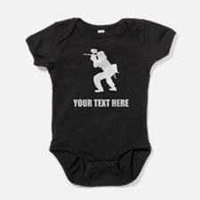 Paintball Player Silhouette Baby Bodysuit