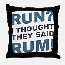 Unique Running 13.1 Throw Pillow