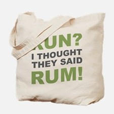 Unique Will run for beer Tote Bag