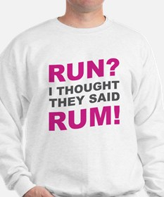 Cute Running in the usa you might be a runner if Sweatshirt