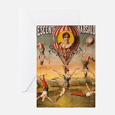 Unique Acrobats Greeting Card