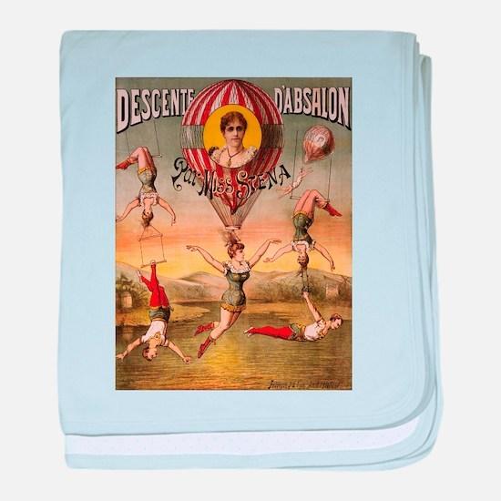Vintage poster - Descente D'absalon baby blanket