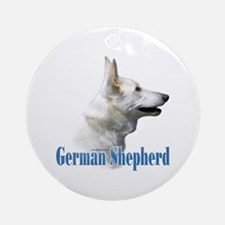 GSD(white)Name Ornament (Round)