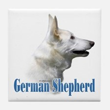 GSD(white)Name Tile Coaster