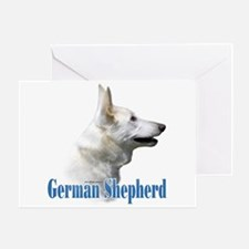 GSD(white)Name Greeting Card