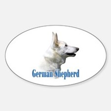 GSD(white)Name Oval Decal