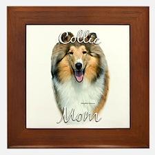 Collie Mom2 Framed Tile