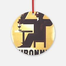 Vintage poster - Dubonnet Round Ornament