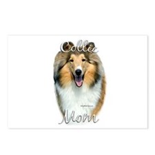 Collie Mom2 Postcards (Package of 8)