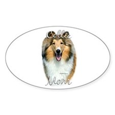 Collie Mom2 Oval Decal