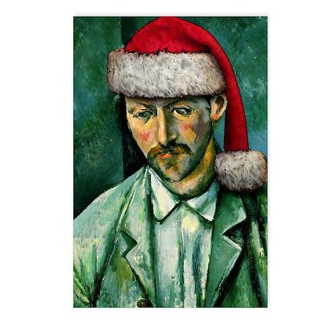 Cézanne Santa Postcards (Package of 8)