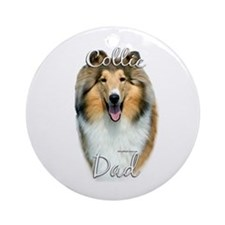 Collie Dad2 Ornament (Round)