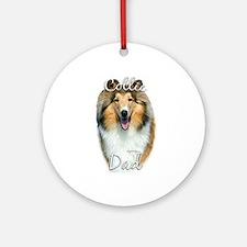 Collie Dad2 Ornament (Round)
