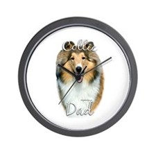 Collie Dad2 Wall Clock