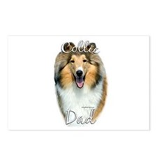 Collie Dad2 Postcards (Package of 8)