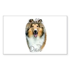 Collie Dad2 Rectangle Decal