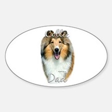 Collie Dad2 Oval Decal