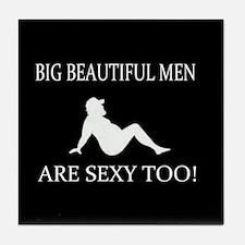 Big Beautiful Men Sexy Tile Coaster