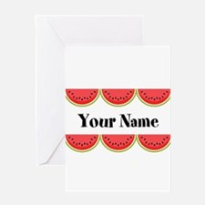 Watermelons Personalized Greeting Cards