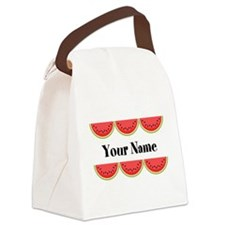 Watermelons Personalized Canvas Lunch Bag