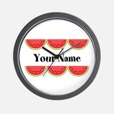 Watermelons Personalized Wall Clock
