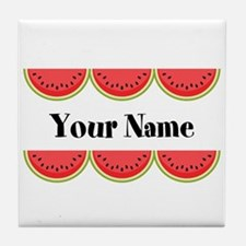 Watermelons Personalized Tile Coaster
