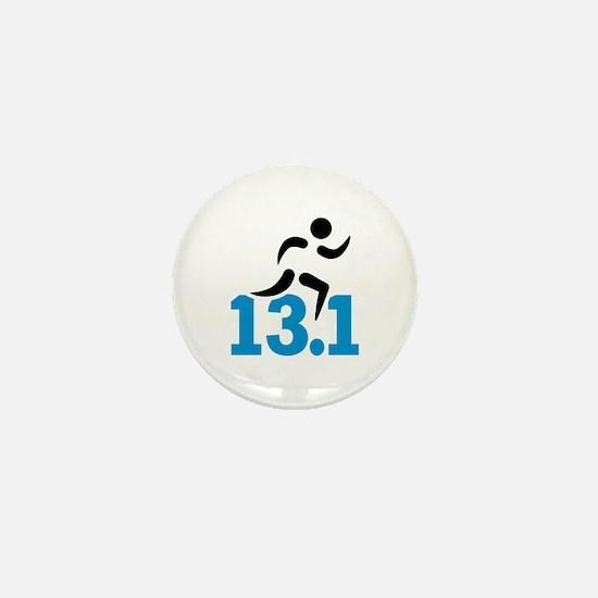 Half marathon 13.1 miles Mini Button