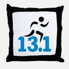 Half marathon 13.1 miles Throw Pillow