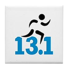 Half marathon 13.1 miles Tile Coaster