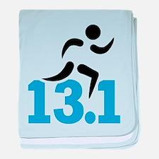 Half marathon 13.1 miles baby blanket