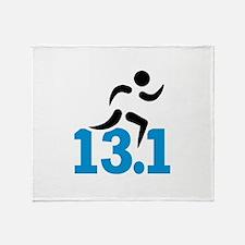 Half marathon 13.1 miles Throw Blanket