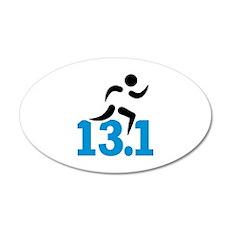 Half marathon 13.1 miles Wall Decal