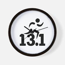 Half marathon runner Wall Clock
