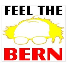 Feel the Bern Wall Art Poster