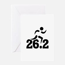 26.2 miles marathon Greeting Card