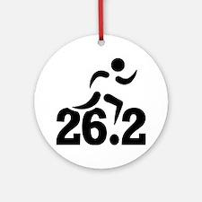 26.2 miles marathon Round Ornament
